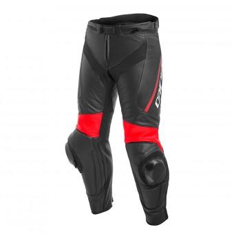 Pantalon Moto Dainese Delta 3 Black Fluo Red