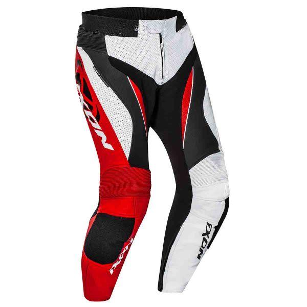 Pantalon Moto Ixon Falcon Pant Blanc Noir Rouge