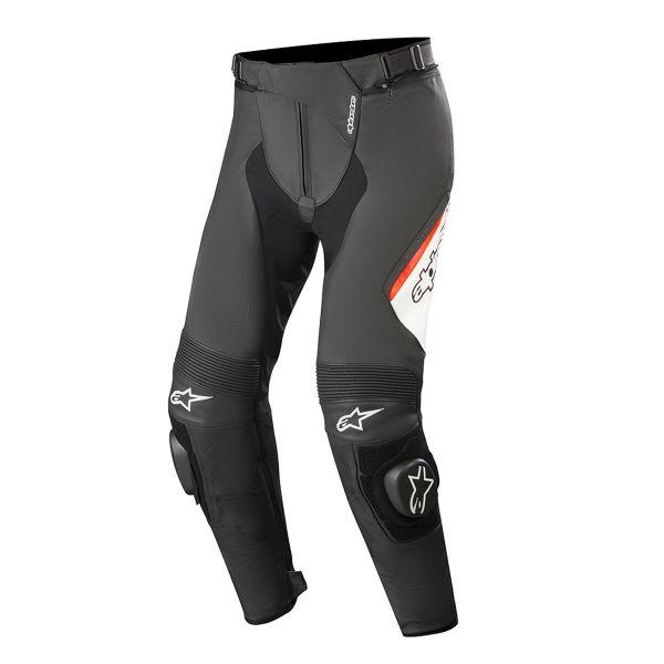 Pantalon Moto Alpinestars Missile V2 Noir Blanc Rouge Fluo