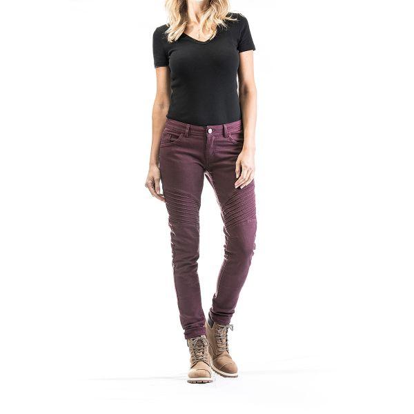 Jeans Moto Ixon Vicky Burgundy