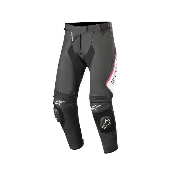 Pantalon Moto Alpinestars Stella Missile V2 Noir Blanc Fuchsia