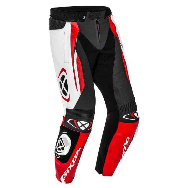 Pantalon Moto Ixon Vortex 2 Pant Noir Blanc Rouge