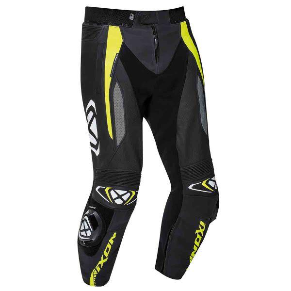 Pantalon Moto Ixon Vortex 2 Pant Noir Gris Jaune Vif