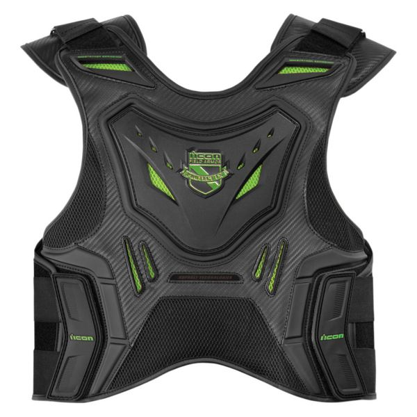 Dorsale Moto ICON Stryker Vest Black Green
