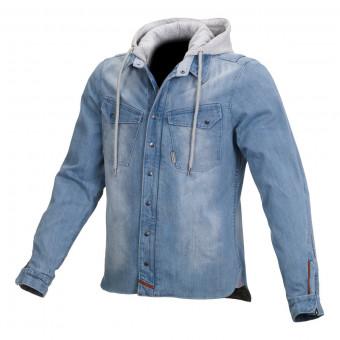 Veste Moto Macna Westcoast Denim Light Blue Grey