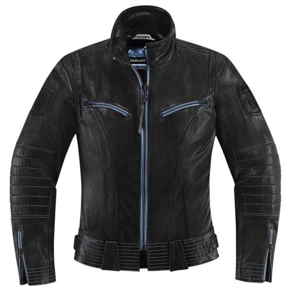 blouson moto icon 1000 fairlady black au meilleur prix. Black Bedroom Furniture Sets. Home Design Ideas