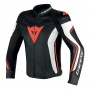 Blouson Moto Dainese Assen Perforated Black White Red Fluo