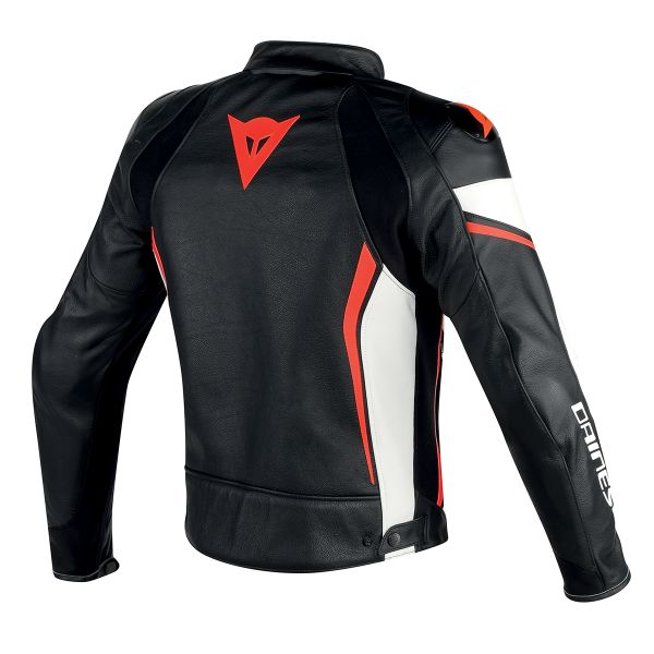 Dainese Assen Perforated Black White Red Fluo