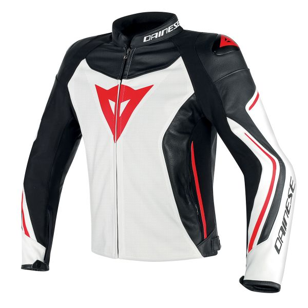 Blouson Moto Dainese Assen Perforated White Black Red