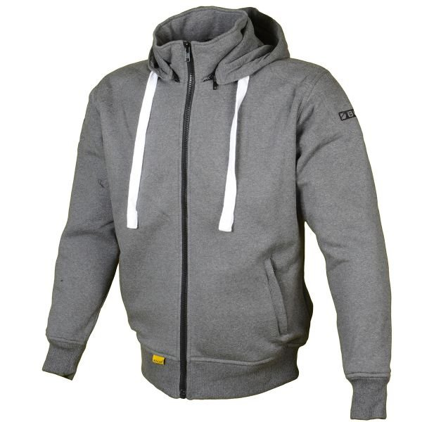blouson moto booster hoodie kevlar core dark grey en stock. Black Bedroom Furniture Sets. Home Design Ideas