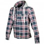 Blouson Moto Booster Hoodie Kevlar Hunt Blue Grey Red