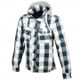 Blouson Moto Booster Hoodie Kevlar Hunt Light Grey Blue