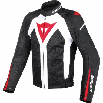 Blouson Moto Dainese Hyper Flux D-Dry White Black Red
