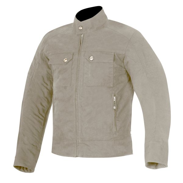 Blouson Moto Alpinestars Oscar Ray Canvas Dark Sand