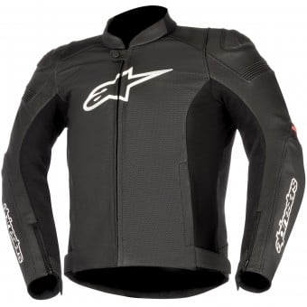 Blouson Moto Alpinestars SP-1 Leather Airflow Black Red