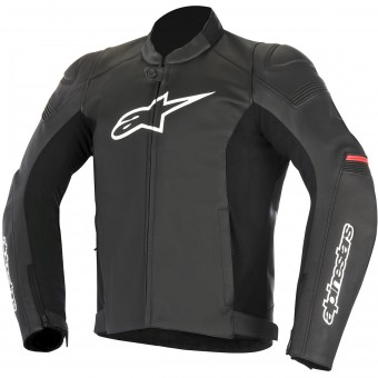 Blouson Moto Alpinestars SP-1 Leather Black Red