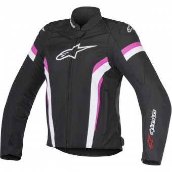 Blouson Moto Alpinestars Stella T-GP Plus R V2 Air Black White Fuchsia