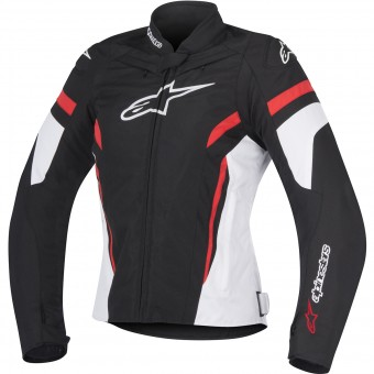 Blouson Moto Alpinestars Stella T-GP Plus R V2 Black White Red