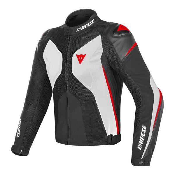 Blouson Moto Dainese Super Rider D-Dry White Black Red