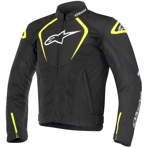 Blouson Moto Alpinestars T-Jaws V2 Air Black White Yellow Fluo