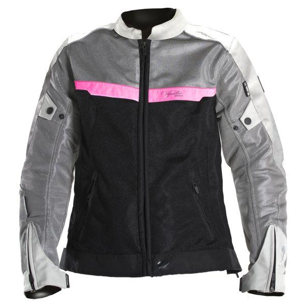 Blouson Moto V'Quattro VE-51 Lady Grey Black Pink