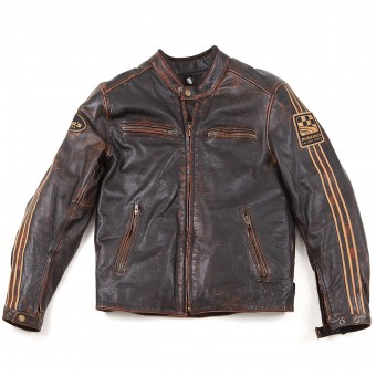 Blouson Moto Helstons Ace Oldies Marron