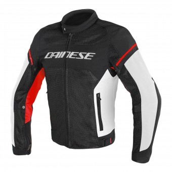 Blouson Moto Dainese Air Frame D1 Black White Red