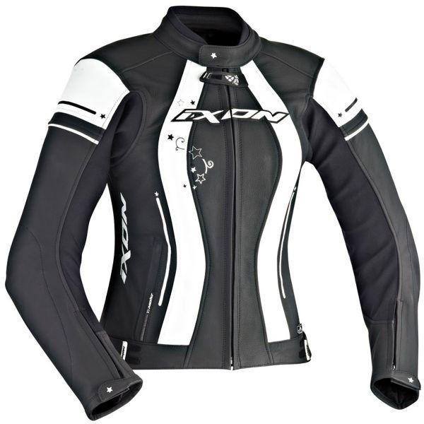 Blouson Moto Ixon Alcyone Black White
