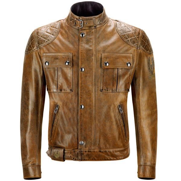 Blouson Moto Belstaff Brooklands Leather Burnt Cureo
