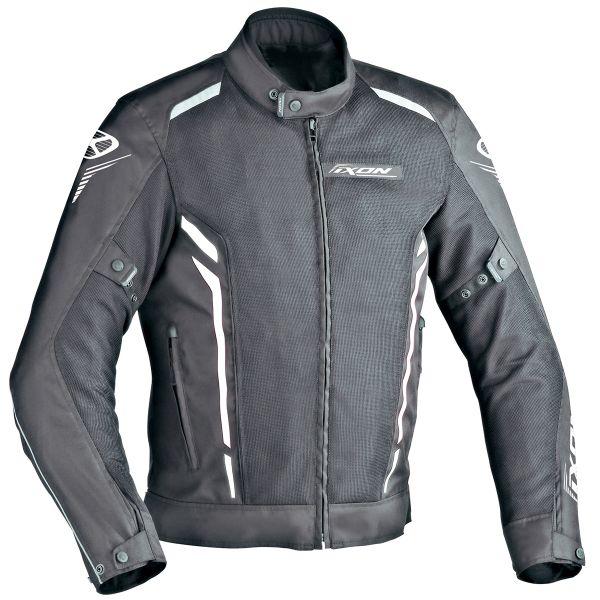 Blouson Moto Ixon Cooler Noir Blanc