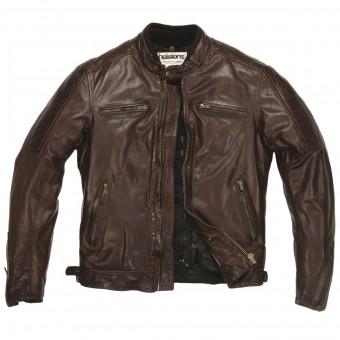 Blouson Moto Helstons Cruiser Leather Rag Brown