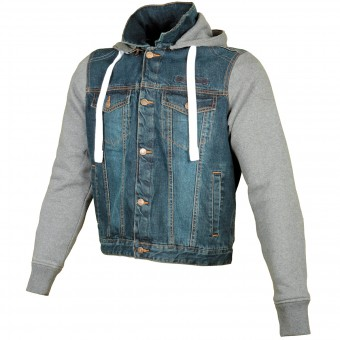 Blouson Moto Booster Denim Hoodie Men