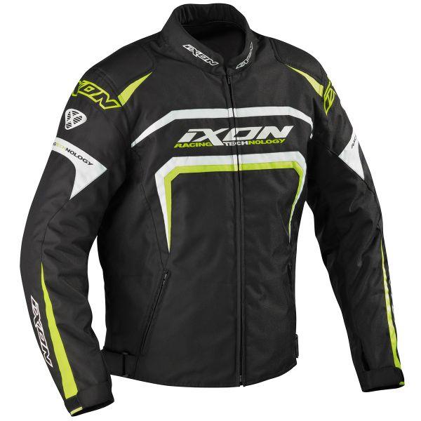 Blouson Moto Ixon Eager Noir Blanc Jaune
