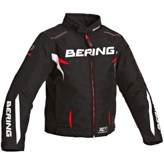 Blouson Moto Bering Fizio Kid Black White Red