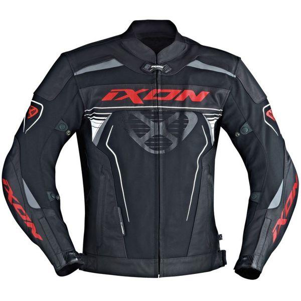 Blouson Moto Ixon Frantic Black White Red