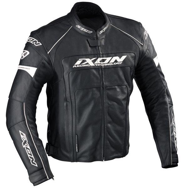 Blouson Moto Ixon Fueller Dry Noir Blanc