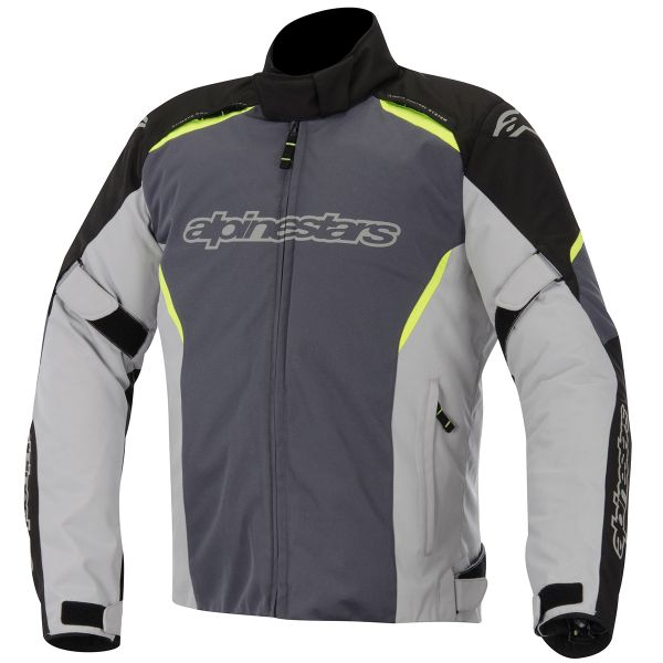 Blouson Moto Alpinestars Gunner Waterproof Black Gray Yellow Fluo