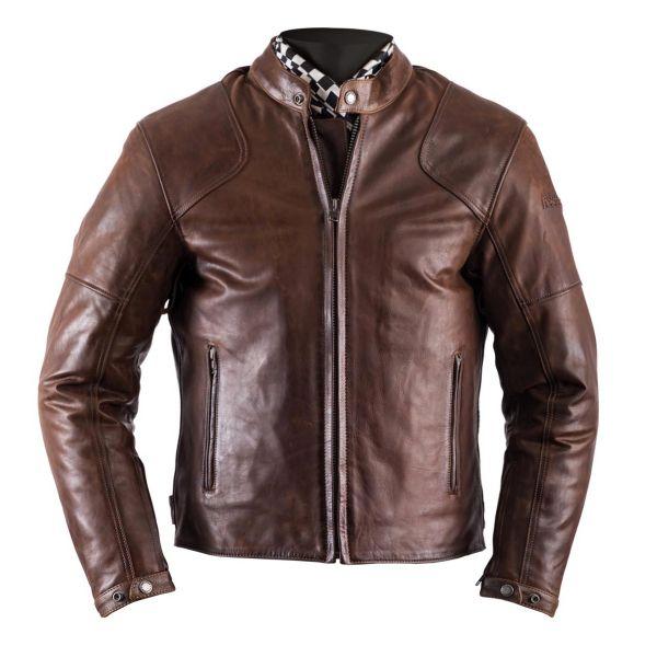 Blouson Moto Helstons Heat Leather Antik Brown