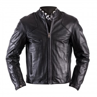 Blouson Moto Helstons Heat Leather Antik Perforated Black
