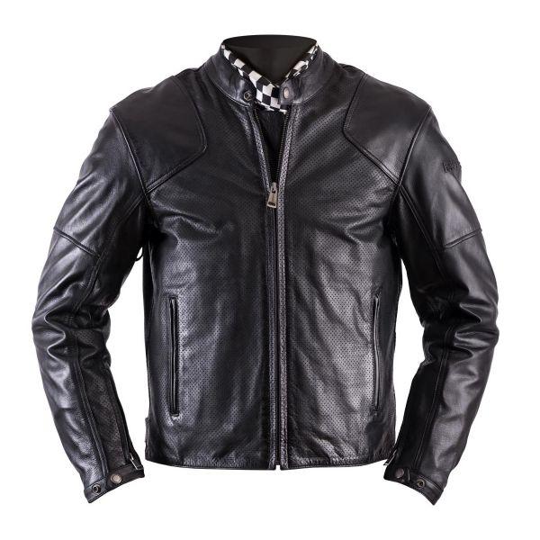 blouson moto helstons heat leather antik perforated black en stock. Black Bedroom Furniture Sets. Home Design Ideas