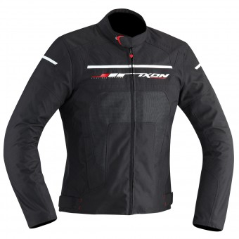 Blouson Moto Ixon Helios Black White Red