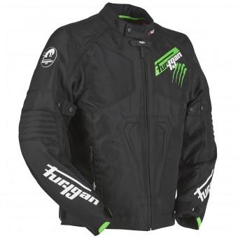 Blouson Moto Furygan Hurricane Black Fluo Green