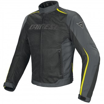 Blouson Moto Dainese Hydra Flux D-Dry Black Grey Yellow