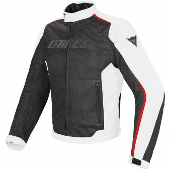 Blouson Moto Dainese Hydra Flux D-Dry Black White Red