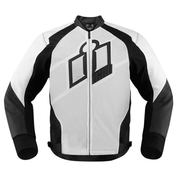 Blouson Moto ICON Hypersport White