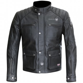 Blouson Moto Merlin Keele Leather Black