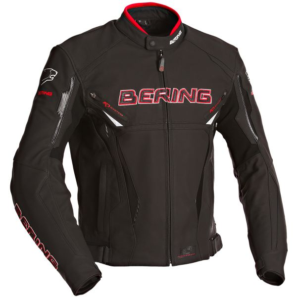 Blouson Moto Bering Kingston Evo Black White Red