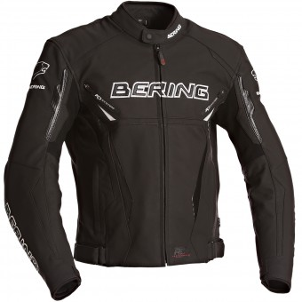 Blouson Moto Bering Kingston Evo Black White