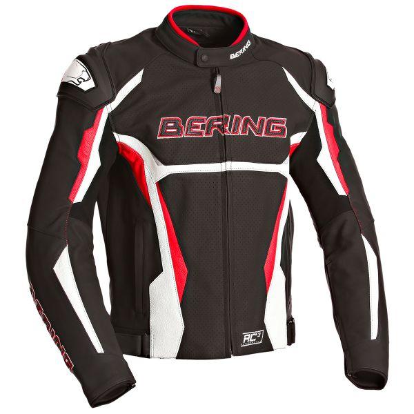 Blouson Moto Bering Kingston Evo-R Black White Red