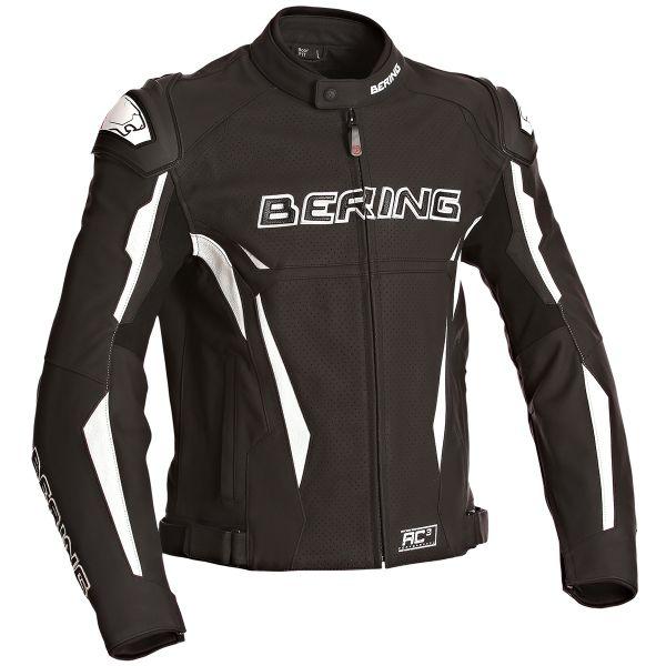 Blouson Moto Bering Kingston Evo-R Black White